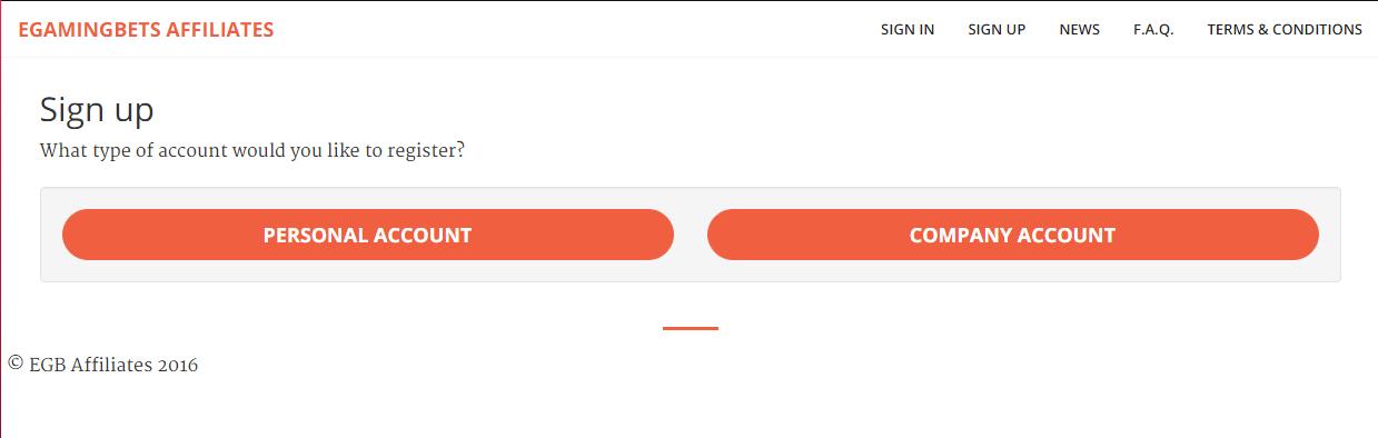 регистрация партнерского аккаунта
